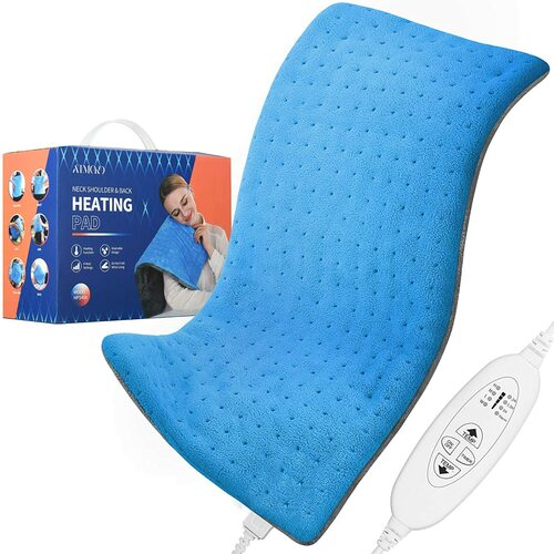 ATMOKO Comfy Warmth and Pain Soothing Heat Pad - Blue