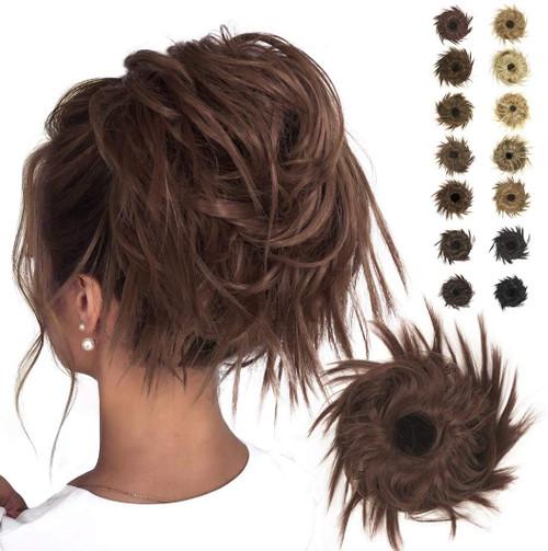 Messy Hair Bun for Women-Dark Auburn