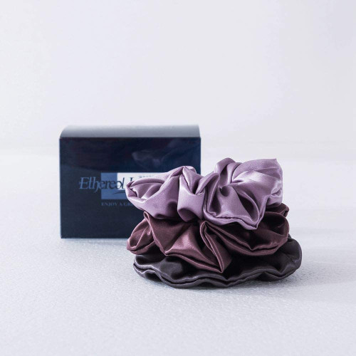 Ethlomoer Silk Hair Scrunchies Set-Group 2 Pack Of 3