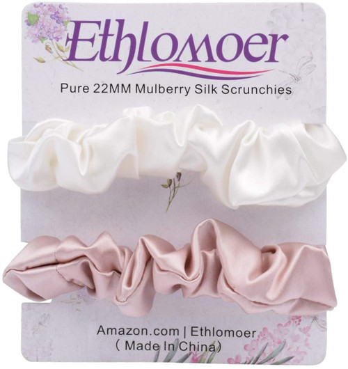Ethlomoer Silk Hair Scrunchies Set-2 Pack 1