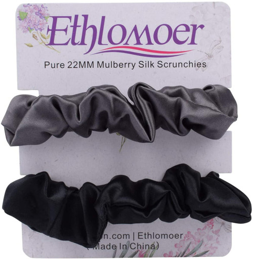 Ethlomoer Silk Hair Scrunchies Set-2 Pack 3