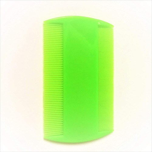A1SONIC Neon Double Sided Nit Comb for Head Lice-GREEN
