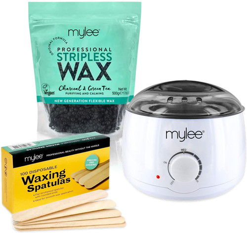 Mylee Professional Stripless Wax Heater with Wax Beans - Charcoal & Green Tea Wax