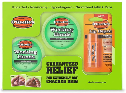 O'Keeffe's Skincare Working Hands And Lip Gift Pack