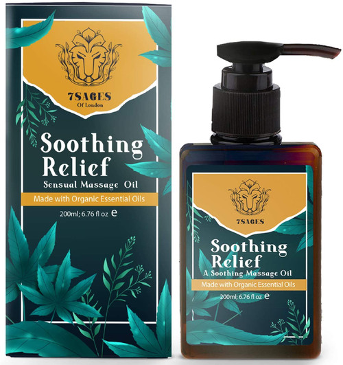 7Sages Soothing Relief Sensual Massage Oil with Essentials Oils - 200ml