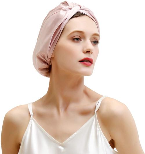 ZIMASILK Mulberry Silk Sleep Cap for Women-Light Plum