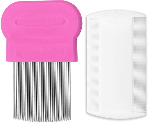 2 Pieces Head Hair Comb-Pink