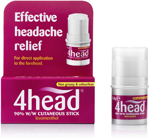 4 Head Levomenthol Stick for Effective Headache Relief - 3.6 g