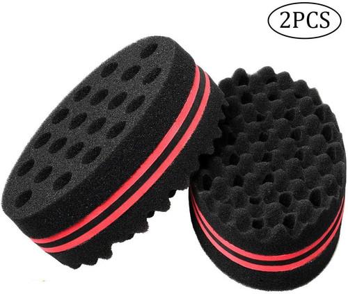 nuosen 2 pcs Hair Sponge Brush