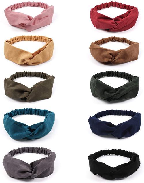 ABirdon Solid Color Headbands for Women 10 Pcs