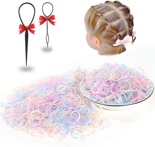 Mini Elastic Hair Bands Jelly Color 2000 Pcs