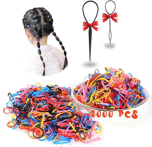 Mini Elastic Hair Bands Multi-Color 2000 Pcs