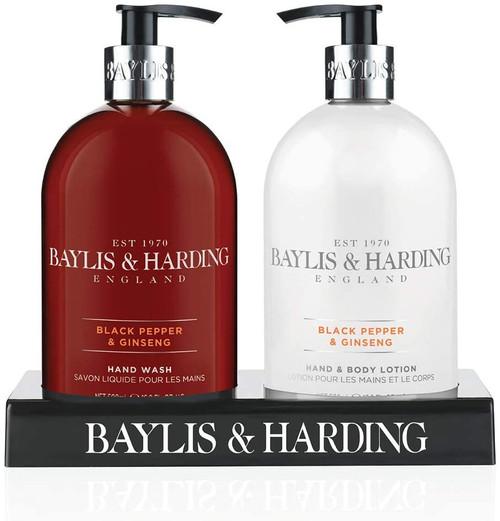 Baylis & Harding Black Pepper and Ginseng Hydrating Hand Wash and Lotion Set