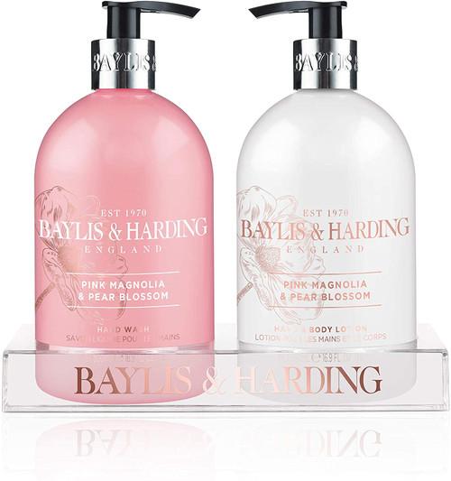 Baylis & Harding Magnolia & Pear Blossom Hydrating Hand Wash and Lotion Set