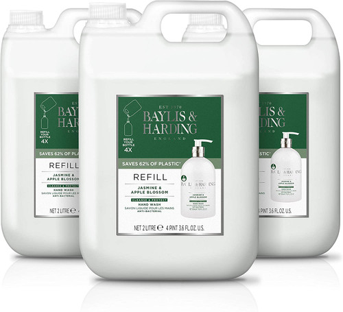 Baylis & Harding Jasmine and Apple Anti-Bacterial Hand Wash Refill - Pack of 3