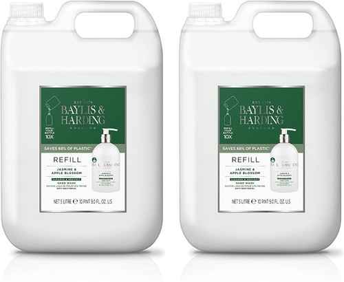 Baylis & Harding Jasmine and Apple Anti-Bacterial Hand Wash Refill - Pack of 2