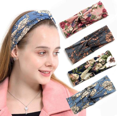 Bandana Boho Hairbands Hair Accessories 4 Pack