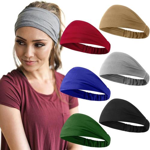 African Headbands Elastic Headbands 6Pcs