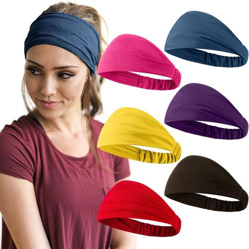 African Headbands Stretchy Softy Headbands 6Pcs