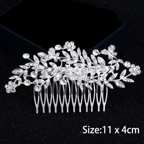 Miaoo Women Bridal Diamante Hair Comb Clip