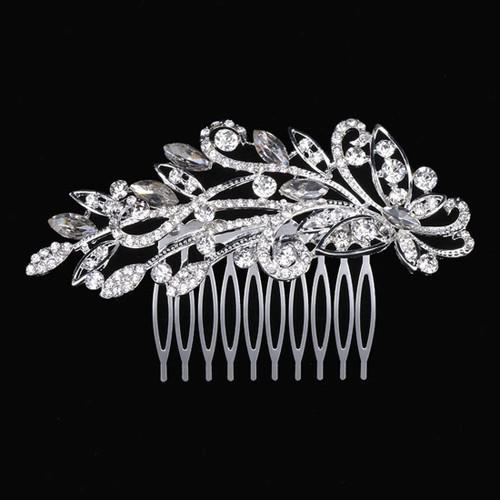 Miaoo Women Bridal Diamante Hair Comb 9 Clip