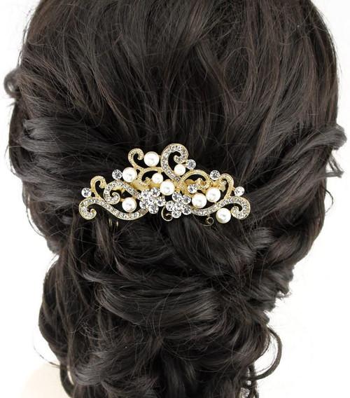 Handmadejewelrylady Bridal Women Vintage Gold Wedding Hair Comb