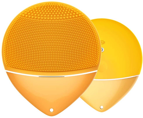 Sonic Dual Core IPX6 Macaroon Style Facial Cleansing Brush - Yellow