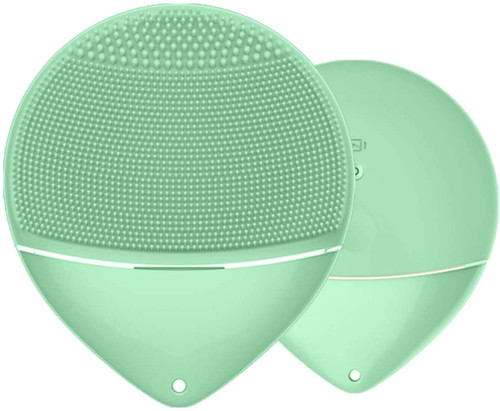 Sonic Dual Core IPX6 Macaroon Style Facial Cleansing Brush - Green