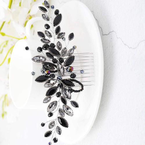 Handcess Bride Wedding Hair Combs Silver Black