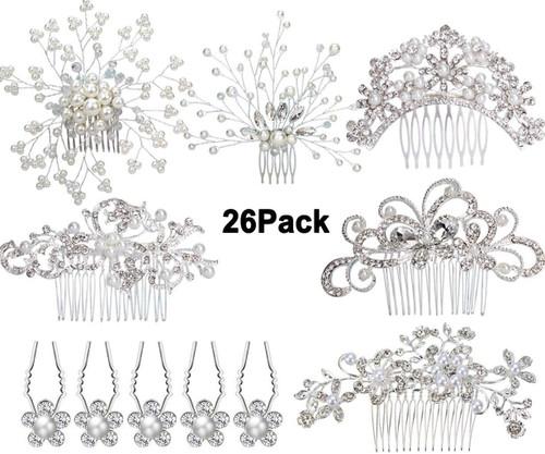 Formemory + 20 × Crystal Hair Pins Hair Clips