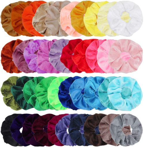 Hair Scrunchies Velvet Elastic Hair Bands 40 Pack