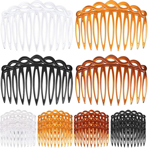 Plastic Hair Side Combs 12 Pieces