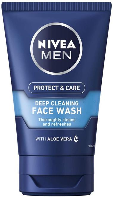 NIVEA MEN Deep Cleansing Face Wash with Aloe Vera - 100 ml