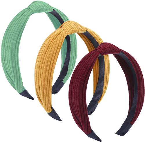 Tupa Women's Wide Plain Headbands Mixed Color I 3 Pack