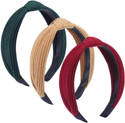 Tupa Wide Plain Headbands Mixed Color F 3 Pack
