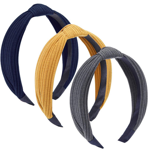 Tupa Wide Plain Headbands Mixed Color H-3 Pack