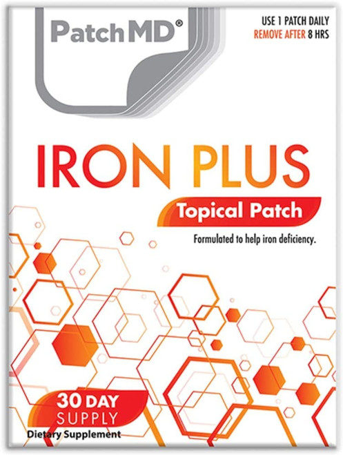 PatchMD Iron Deficiency Iron Plus Topical Patches - 30 Pcs
