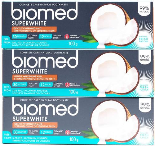 Biomed Superwhite Gentle Whitening Sensitive Teeth Coconut Toothpaste - Pack of 3