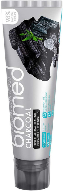 Biomed Triple Whitening Charcoal Toothpaste - 100 g