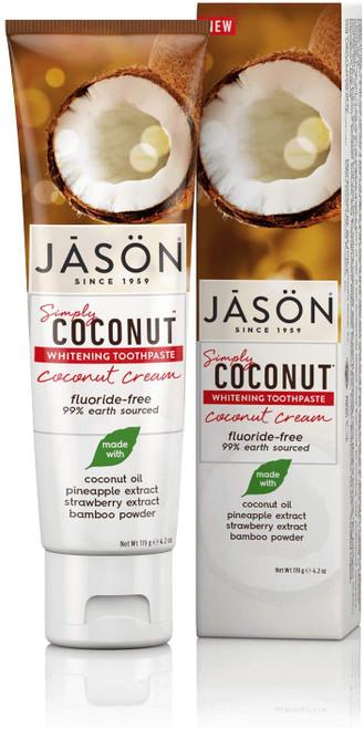 Jason Smoothing Coconut Cream Whitening Toothpaste - 119g