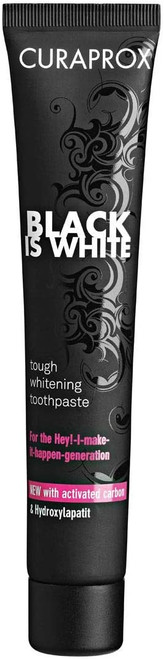 Curaprox Black is White Charcoal Tough Whitening Toothpaste