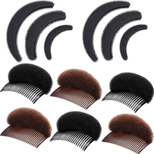 Bump Up Hair Accessories Volume Insert Set Black Brown 10Pcs