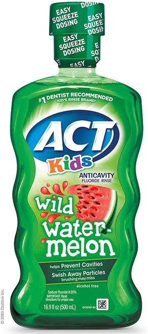 ACT Kids Wild Watermelon Fluoride Mouthwash - 500ml
