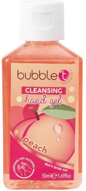Bubble T Fresh Fruity Peach Hand Sanitiser Gel - 50ml