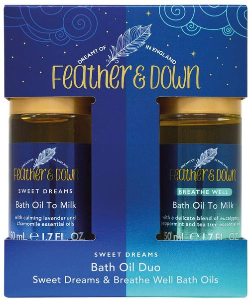 Feather and Down Sweet Dream Bath Oil To Milk Set