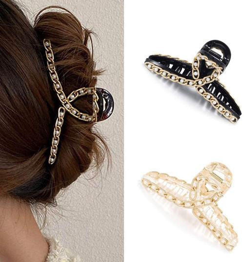 Runmi Hair Claw Clips Pearl Hair Claws