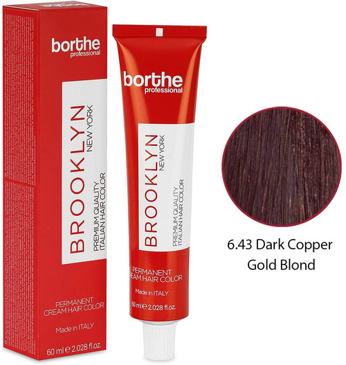 BORTHE Permanent Hair Colour-Dark Copper Gold Blonde