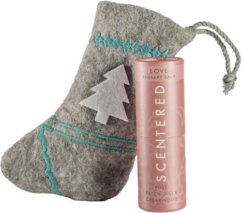Scentered Non-Greasy Aromatherapy Balm Stick Stocking Gift - Love