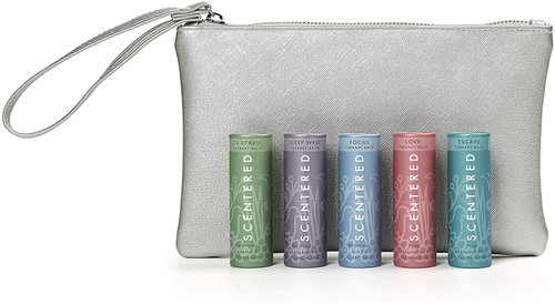 Scentered Ultimate Survival Aromatherapy Pulse Point Balm Gift Set - Silver