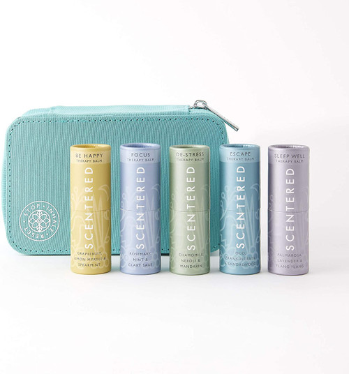 Scentered Ultimate Survival Aromatherapy Pulse Point Balm Gift Set - Blue